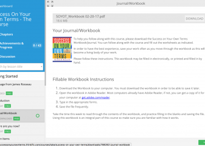 Course Workbook Download Page