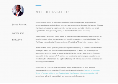 Course Author Page